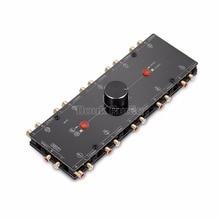 Nobsound conmutador de Audio analógico 1 en 10 salidas, 3,5mm/RCA Mono/estéreo, preamplificador divisor