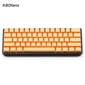 Image 2 - White Black Orange blue  Blank Thick PBT OEM Profile 61 ANSI Keycaps For MX Switches dz60 gh60 Mechanical Keyboard