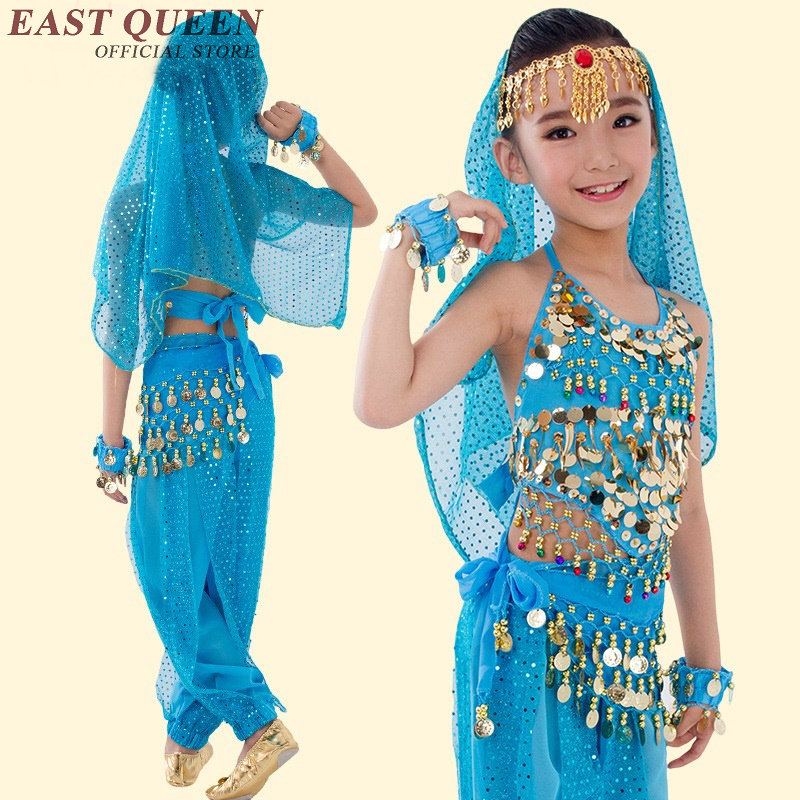 Oriental dance costumes for <font><b>kids</b></font> children girls <font><b>indian</b></font> costume bellydance <font><b>sari</b></font> <font><b>indian</b></font> clothing AA2470 Y image