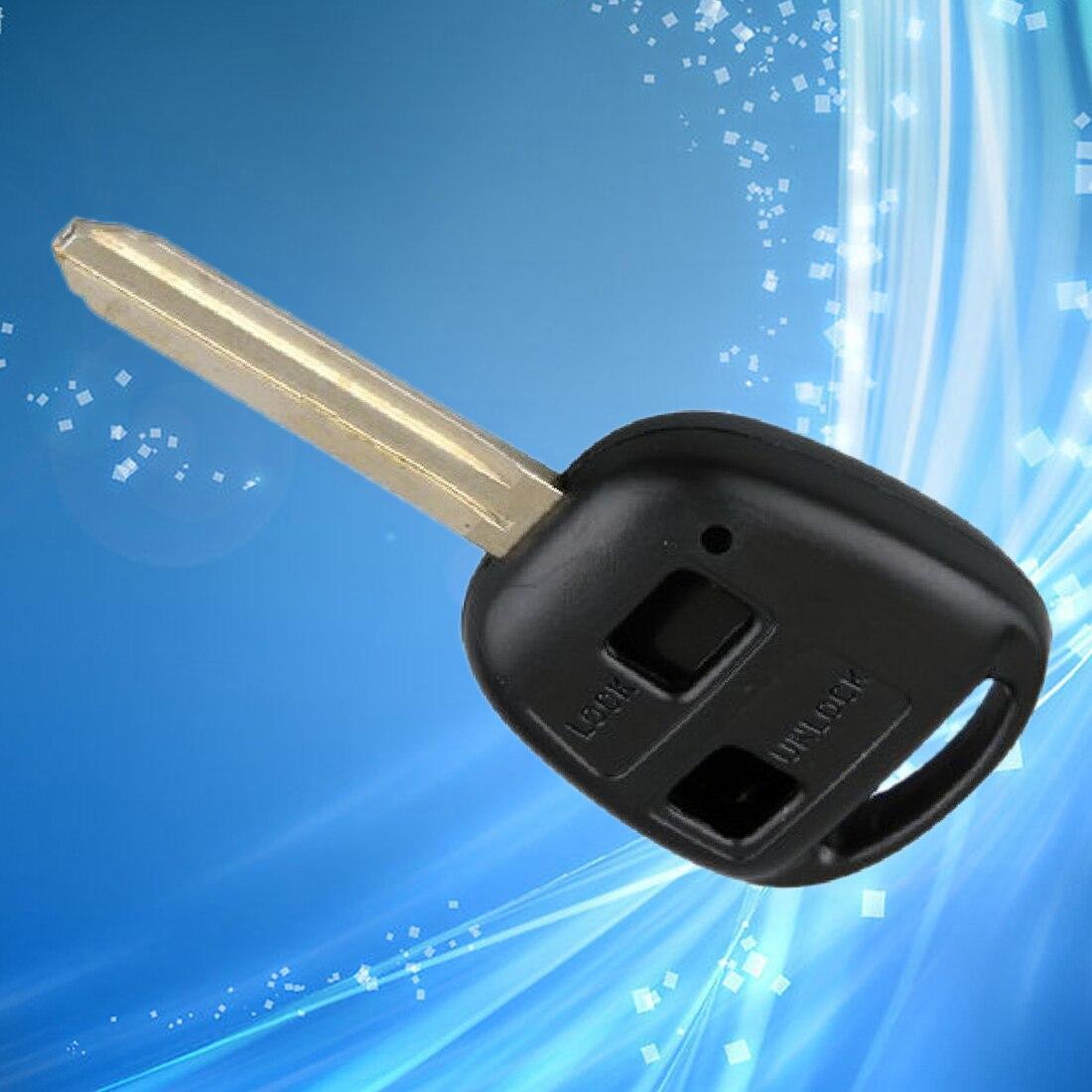 Auto Abdeckung Fall 2 Tasten Fern Eintrag Key Fall Fob Shell Für Toyota Yaris Avalon Camry Rav4 Corolla Echo Uncut Klinge