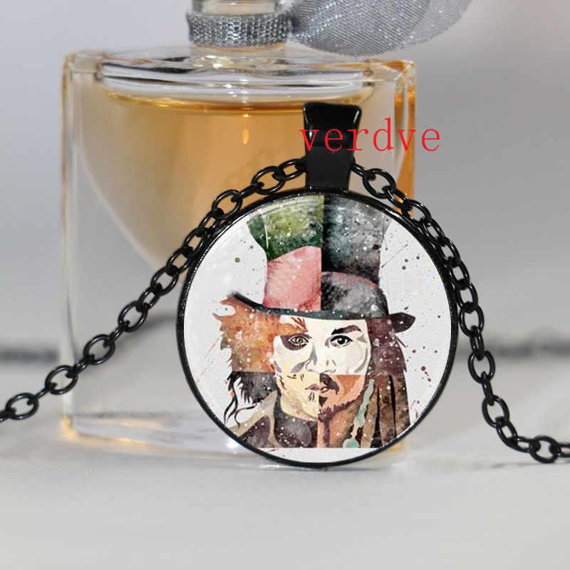 ジョニー · デップアートプリントネックレスガラスフォトカボションのネックレス