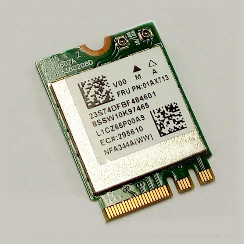 LTN QCANFA344A QCA6174A 2*2ac+BT4.X PCIE M.2 Module For Lenovo YOGA 5 Pro YOGA 910-13IKB 910-13IKB Glass Series, FRU SW10K97465
