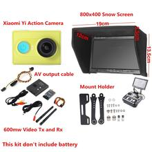 FPV Combo 800×480 Non-blue Monitor + 600mw Tx and Rx + Radio Holder For SJCAM SJ4000 XiaoMi Yi Sport Action Gopro Camera QAV250