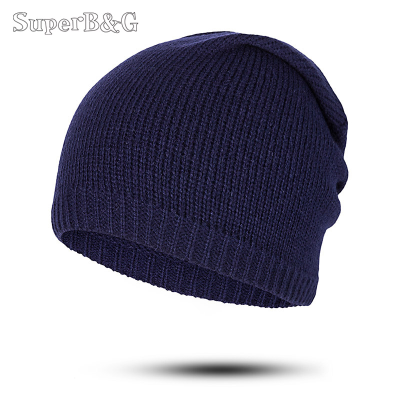 0cc7532a022 Detail Feedback Questions about SuperB G New Knitting Skullies Beanies Hat  Women Men Pure Color Winter Autumn Hat Unisex Outdoor Beanie Hat Cap Female  Male ...