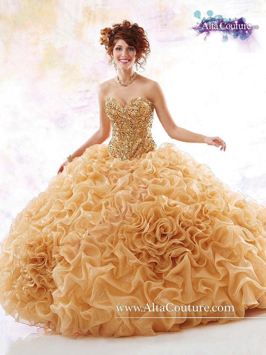 Online Buy Wholesale gold quinceanera dresses from China ...