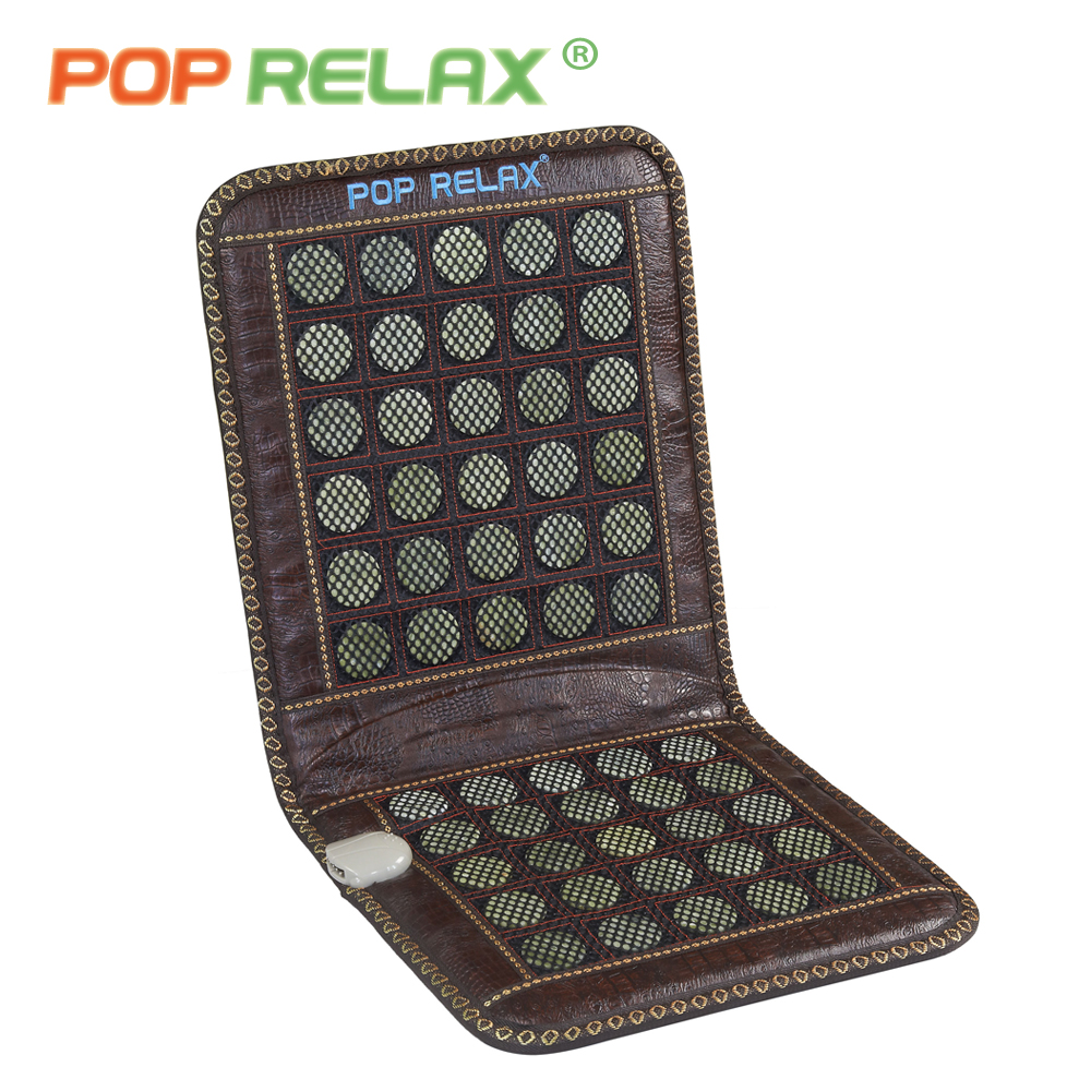 POP RELAX Korea jade seat mattress 110V massage cushion pad physiotherapy far infrared electric heating health stone sitting mat pop relax korea jade massage bed electric heating jade stone spine relax massager health care full body rolling massage bed