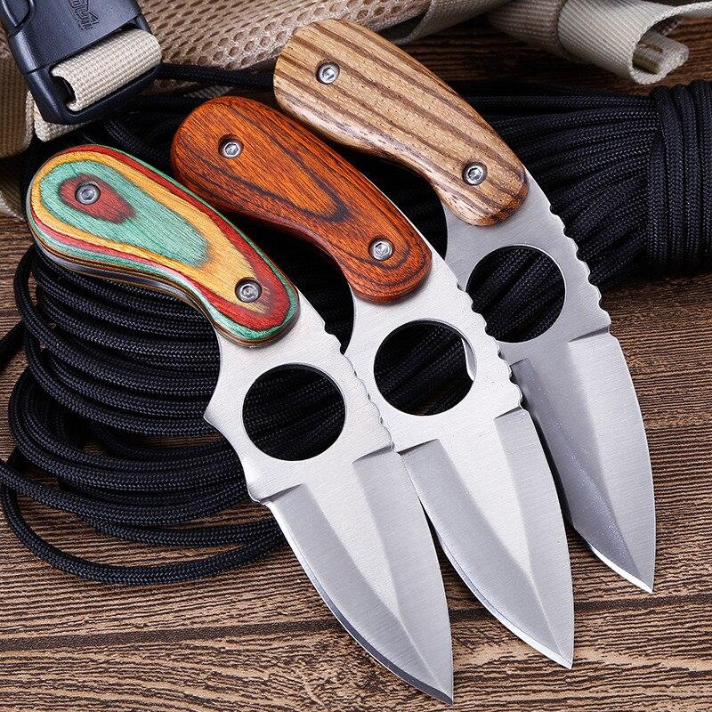 Couteau de poche tactique couteaux à lame fixe couteaux de survie de chasse navajas supervivencia cuchillo titanio couteau facas mes messer