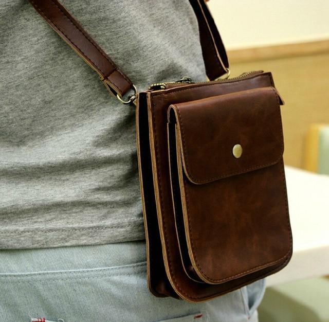 stacy bag hot sale high quality men PU leather handbag male small vintage  messenger bag man mini cross-body shoulder bag 3cc85676a995e