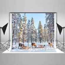 Kate Snow Winter Photo Background Photography Backdrop Elk Carriage Backgrounds For Photo Studio Microfiber Children Backdrop kate retro blue wall photo background photography backdrop children washable backgrounds for photo studio