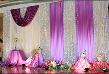 Hotsale elegant two layer wedding fabric backdrop , sequin backdrop , decorative backdrop with sequin