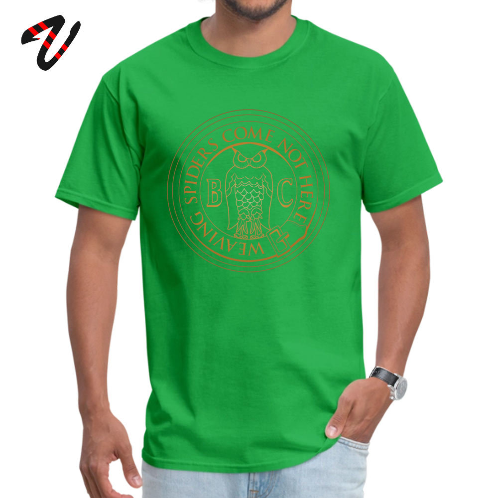 Printed On 100% Cotton Fabric Tops & Tees for Men Normal Top T-shirts Casual High Quality O-Neck T-shirts Short Sleeve Bohemian Grove Owl - Golden -10033 green