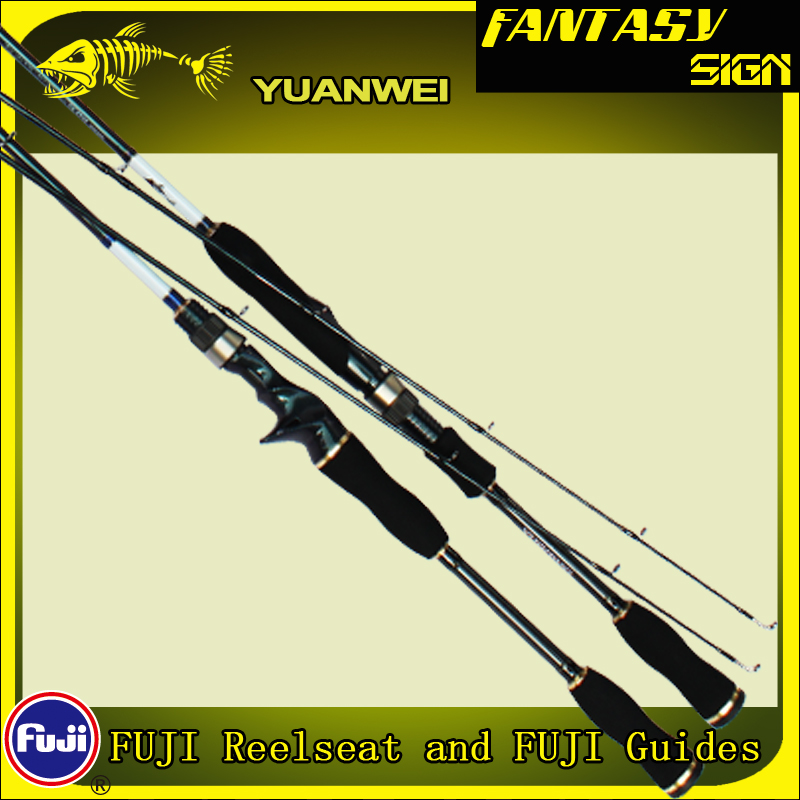 Yuanwei 1 8m 2 1m Spinning Rod 2 Section Carbon Fiber Lure Fishing Pole M ML
