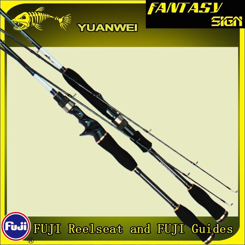 Yuanwei 2 Seção De Fibra De Carbono 1.8m 2.1m Haste de Giro Isca de Pesca Pólo M ML MH Fundição Vara Canne UMA Vara De Pesca Peche A054