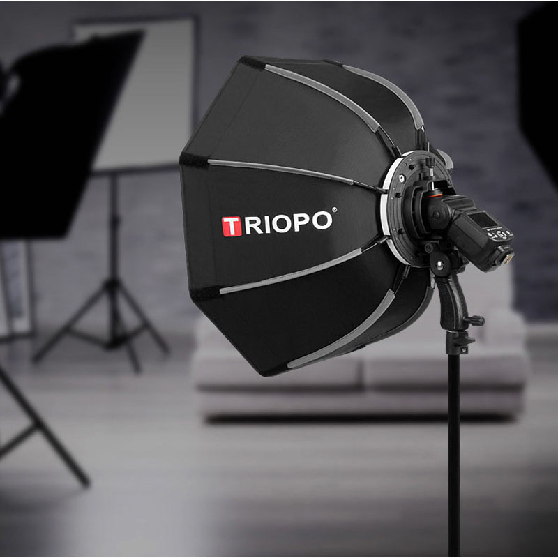 TRIOPO 65 cm Portable En Plein Air Octogone Parapluie Softbox pour Godox V860II TT600 TT685 YN560 III IV TR-988 1 flash Soft Box - 6