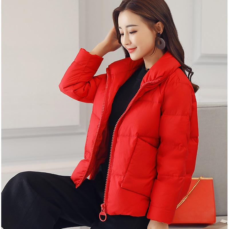 Mujeres Algodón Las Permanente Cuello Xy112 Chaqueta Abrigo Red Mujer Collar Corto 2019 Sólido Moda Coreano Caramel Casual 7qwYRO