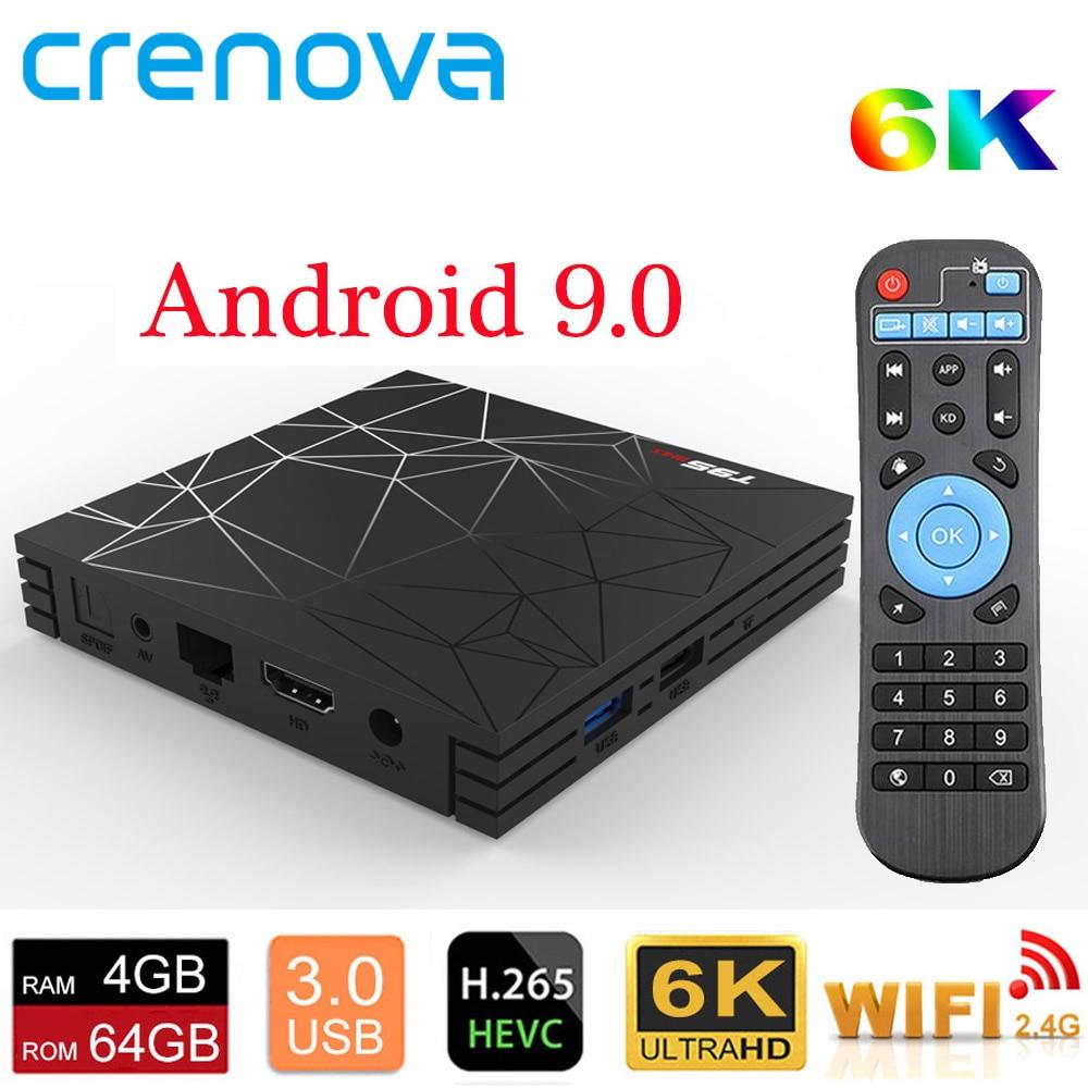 CRENOVA T95 Max tv BOX Android 9 0 3D 4GB 32GB 64GB Allwinner H6 quad core