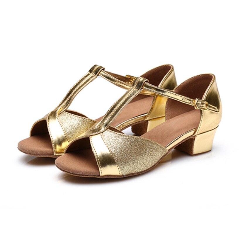 Professional Golden Latin Dance Shoes Girls Woman Shoes Salsa Ballroom Dancing Shoes Zapatos De Baile Latino Mujer Free Shipping