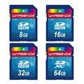 Горячие продажи Wansenda Полный размер SD карты 64 ГБ 32 ГБ 16 ГБ SDHC карты SD Карты флэш-Карты Памяти 8 ГБ 4 ГБ универсальный цифровой камера