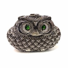 5018N сова птица леди мода свадебные полый металлический вечер кошелек клатч коробка сумка чехол