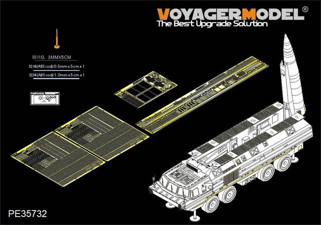 Voyager modelo PE35732 Modern Russo SS-23 Básico (Para HOBBYBOSS 85505)