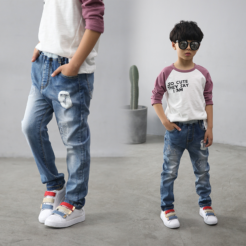 2017 Spring and autumn Fashion font b Kids b font Jeans Boys Jeans Leggings Children s