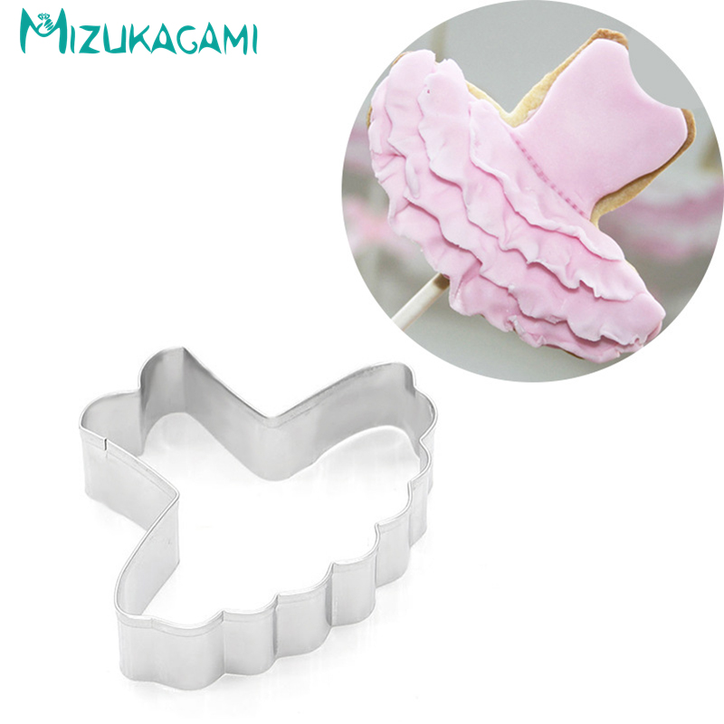 Cookie Cutter Stainless Steel Dance Dress Styling Baked Fondant Biscuit Tool DIY Kitchen Baking Tools  Cutters MS-00196