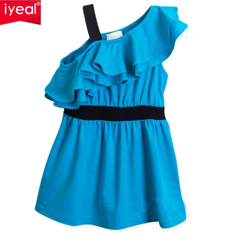 a8f308b207 IYEAL Letnie Dziewczyny Mody Plisowana Szyfonowa Jednoczęściowy Strój  Dzieci Ubrania Dla Dzieci Dziecko WIEK (3Y-12Y)
