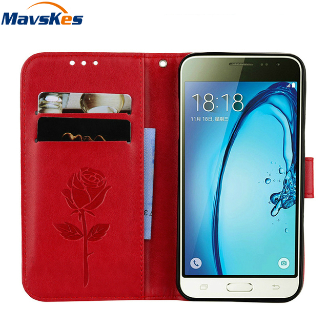 new arrival 3b831 54fdf US $2.89 18% OFF Case For Coque Samsung Galaxy J3 Case Cover For Coque  Samsung J3 (6) Case Flip Leather Wallet For Samsung Galaxy J3 2016 Case-in  ...