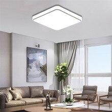 цены Square Led Ceiling Light 24W 30cmX30cm Led Ceiling Lamp White Light Flush Mount Bedroom Fixture Lamp for Living Room Kitchen