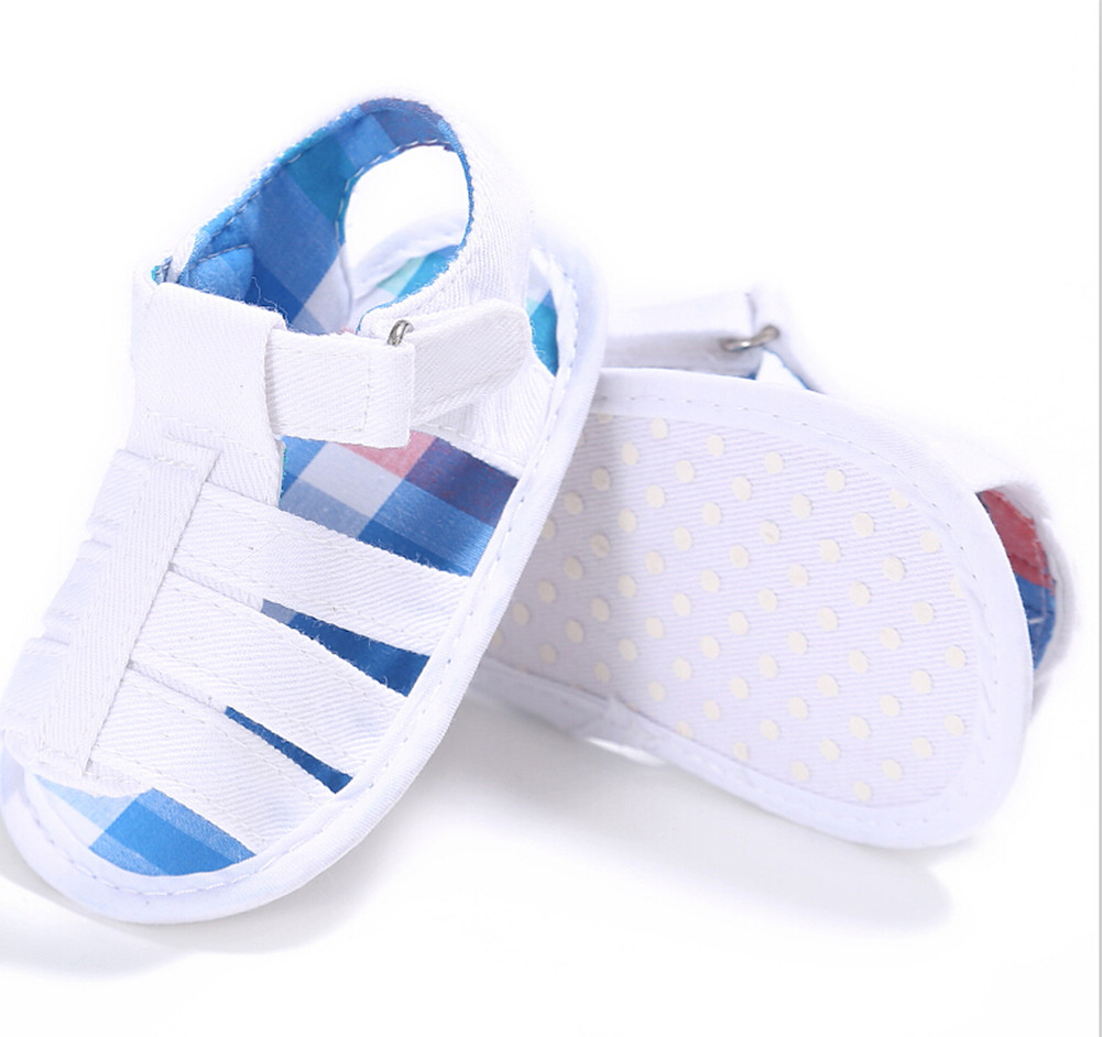 Infant Baby Anti-Slip Soft Sole Crib Shoes Prewalker Sandals Summer Newborn Infant Baby Sandals Soft Sole Boy Casual