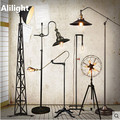 Retro Loft Country Industry Floor Lamps Vintage Metal Standing Light for Office Dining Living Room Bedroom Floor Light Fixtures