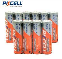 Recarregáveis de Níquel-zinco Novidade Pkcell 10 Pcs Bateria AA NI Zn-1.6 V 2500mwh Baterias 2A
