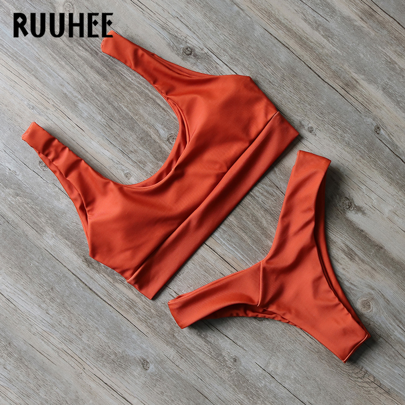 RUUHEE Bikini 2017 Swimwear Bathing Suit Women Biquini Sexy Swimsuit Beachwear Push Up Bikini Set  Maillot De Bain Femme 2017 ruffle one piece swimsuit push up swimwear women sexy monokini solid bathing suit high cut beachwear maillot de bain femme