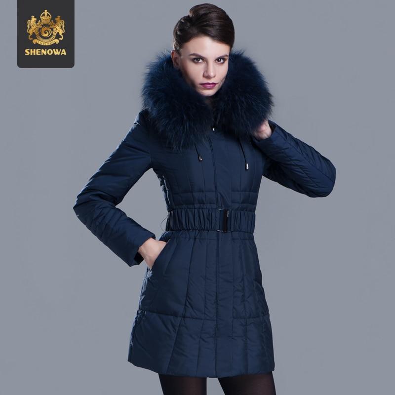 2014 Promotion New Freeshipping Full Women A Luxury Raccoon Fur Collar Coat Lengthen Plus Size 3xl Hooded Down Jackets Ems Fedex luxury finland raccoon fur hooded 90
