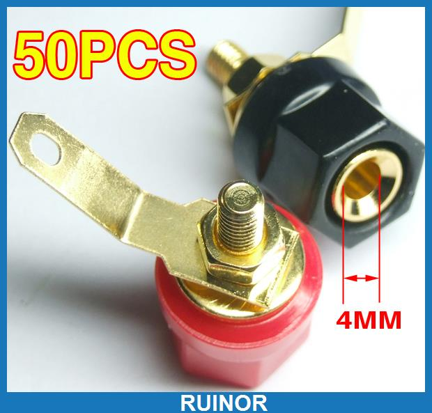 ФОТО 50 Binding Post for Banana Plug Speaker Cable Amplifier
