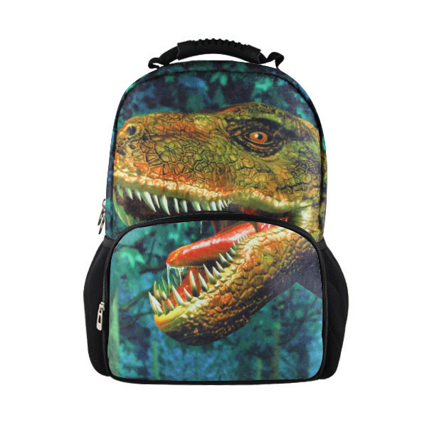 9e27f6000ef8 FORUDESIGNS Large Kids 3D Animal Dinosaur Backpack for School Children  Men s Printing Travel Rucksack Teenager Boys Daypack