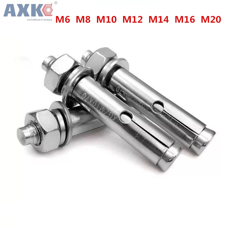 AXK 304 stainless steel expansion screw M6 M8 M10 M12 M14 M16 M20 bolt long explosion wire Air conditioning TV anti-theft window цена
