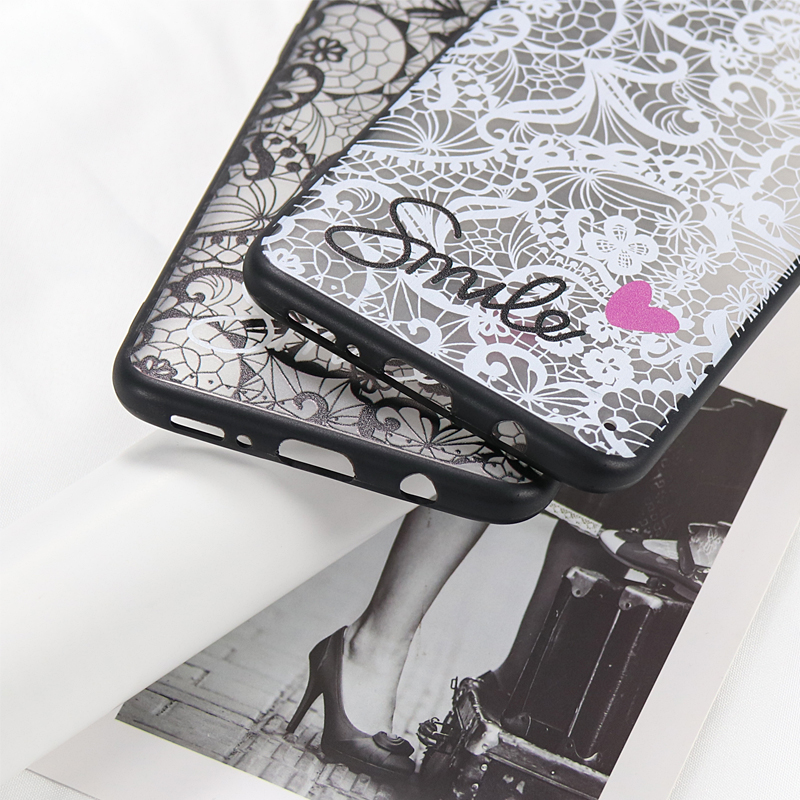 <font><b>Sexy</b></font> Retro Lace <font><b>Case</b></font> For Samsung Galaxy S10 <font><b>S8</b></font> S9 A6 A8 Plus A7 A9 2018 PC+ Silicone for Samsung A30 A50 A20 A10 M10 M20 <font><b>Case</b></font> image