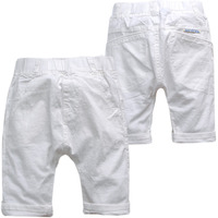 36455 Kids Casual Pants Summer White Denim Child Children S Clothing Boy Boys GILRS KNEE LENGTH