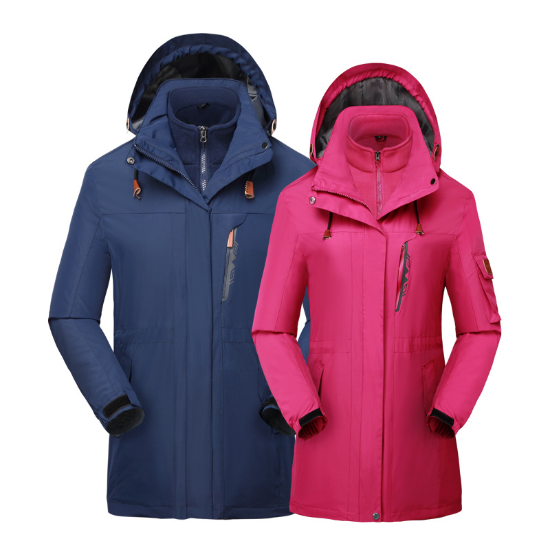 Lovers climbing suits, men's and women's thicker ski suits, three or one or two pieces of warm clothes.