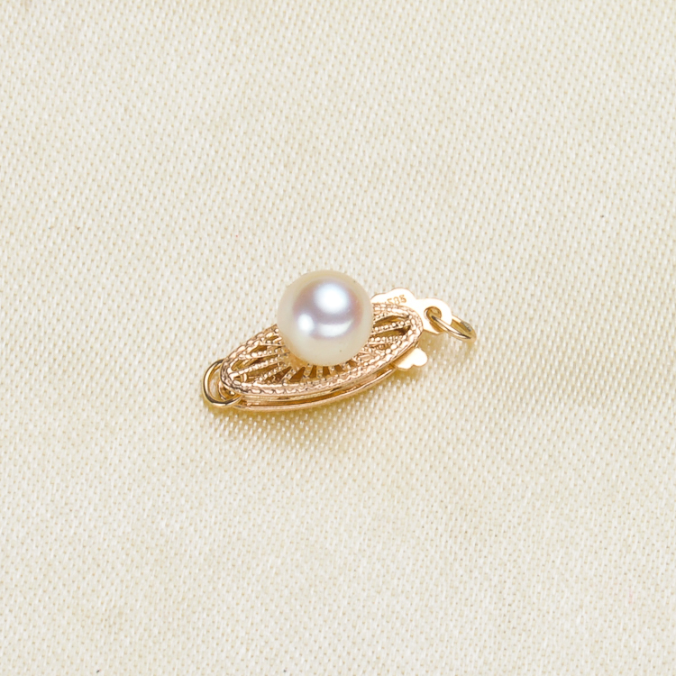 Bricolage accessoires perle d'eau douce jade collier bracelet chandail chaîne à une rangée moraillon G14K or exquis patch boucle