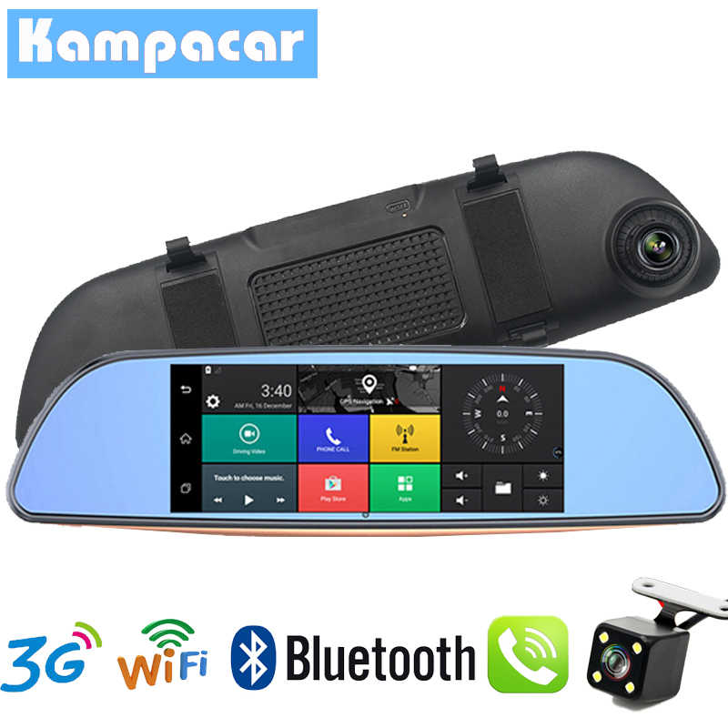 Kampacar 3G Car DVR Mirror FHD 1080P Auto Dash Cam GPS Navigator Video Recorder Registrar Rear View Camera Remote Monitor Dvrs