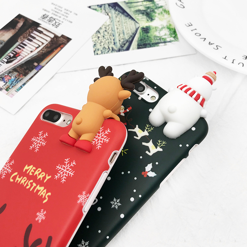 HTB1zvF4XQfb uJkSnhJq6zdDVXaE - Christmas Gift Phone Case For iPhone 6 6S 7 8 Plus Cartoon Christmas Deer & Snowman Soft TPU Phone Back Cover Cases PTC 284