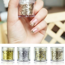 лучшая цена 1 Box Nail Chunky Glitter Sequins Iridescent Flakes Cosmetic Paillette Ultra-thin Tips colorful for Face Body Hair Nails