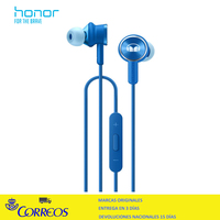 huawei Honor Monster earphone II, Alambrico, Dentro de oido, Binaural, Intraaural, Azul
