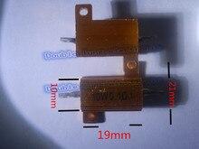 2 шт./лот 10 Вт золотой алюминий резистора 0.1R 0.2R 0.3R 0.4R 0.5R 0.6R 0.8R 1.5R 2.2R 2.7 4.7R ом золотой алюминиевый корпус сопротивление