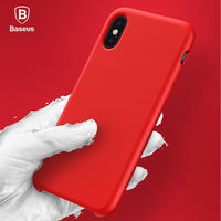 2018 NEW !Liquid Silicone Matte Rubber Bumper Slim Soft Cover for Apple iX Case