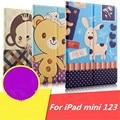 Роскошные Магнитного Цветной рисунок PU Кожаный Для Apple iPad mini2 стенд Чехол Для IPAD mini 1 2 3 Tablet PC обложка + Фильм + Ручка + OTG