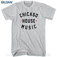 GILDAN New Mens Spring Summer Dress Short Sleeve Casual Men S Chicago House Music T Shirt