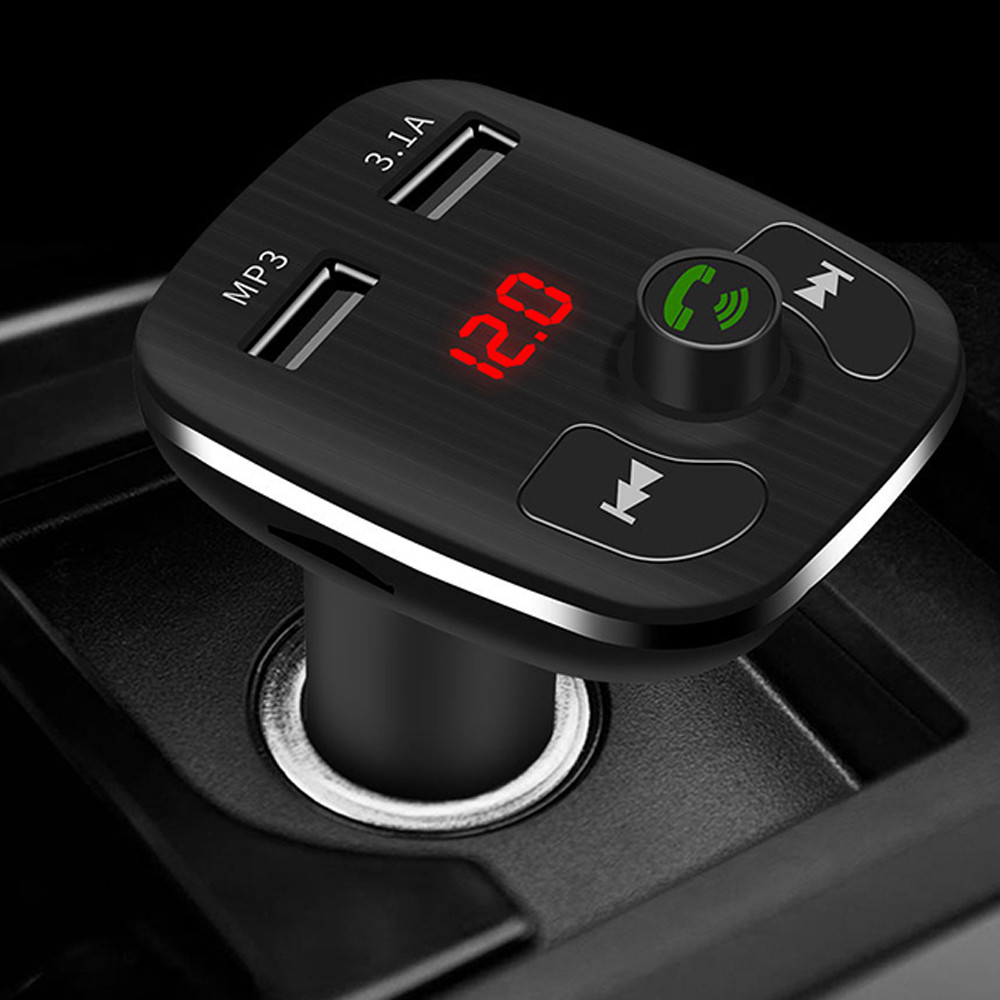 CARPRIE Dual USB Port Car Chargers Bluetooth FM Transmitters Handsfree Calling Car Kits MP3 Player With TF Card Slot Dropship M1
